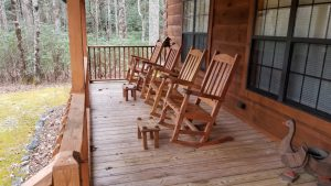 Huge covered front porch with over-sized rockers, Cedar Mountain vacation rentals by owner