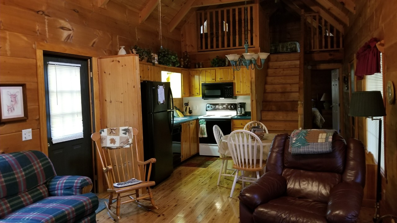 Beautiful log cabin vacation rental by owner near Brevard and Hendersonville NC